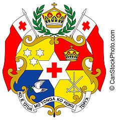 Tonga Coat of Arms - Tonga coat of arms, seal or national...