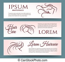 Hair care banners set