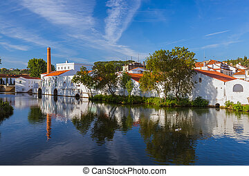 Town Tomar - Portugal - architecture background