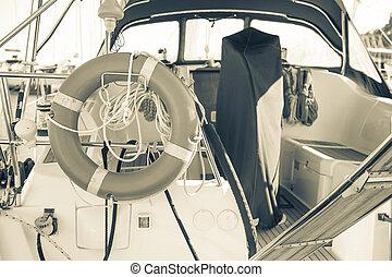 motorboat - inside a motorboat