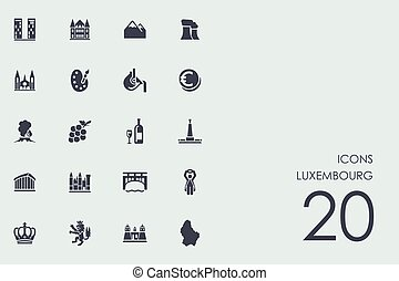 Set of Luxembourg icons - Luxembourg vector set of modern...