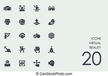 Set of virtual reality icons - virtual reality vector set of...