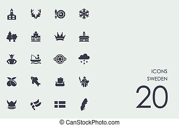 Set of Sweden icons
