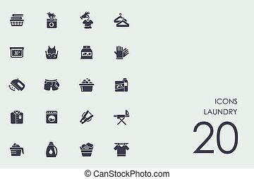 Set of laundry icons - laundry vector set of modern simple...