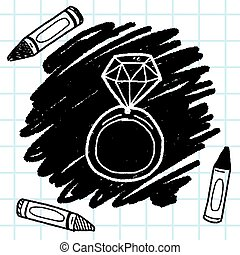 diamond ring doodle drawing