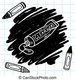 toothpaste doodle