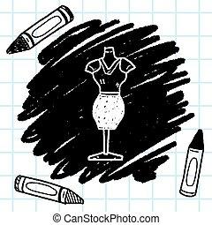 woman clothes doodle