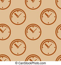 Clock. Seamless pattern. - Clock. Seamless pattern Vector...