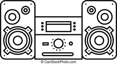 Sound System icon. Music Center Vector illustration on white...