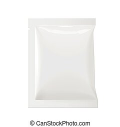 Packaging Foil Pouch Medicine - Realistic White Blank...