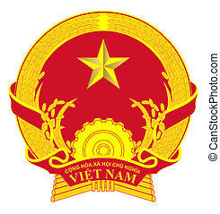 Vietnam Coat of Arms - Vietnam coat of arms, seal or...