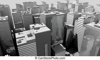 Abstract Model futuristic city - Abstract Model of black and...