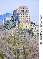 HDR Sacra di San Michele abbey - High dynamic range (HDR)...