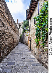 HDR View of the city of Colle Val D Elsa - High dynamic...