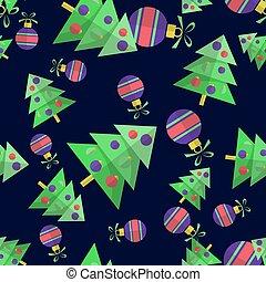 merry christmas-68 - Christmas tree with balls isolated on...
