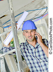 Worker on a building site