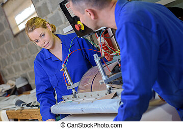 mechanical engineer in the workshop