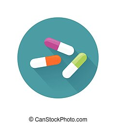 Pills Vector Illustration In Flat Style Design - Pills...
