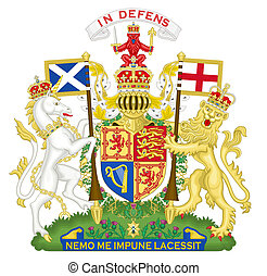 United Kingdom Coat of Arms - United Kingdom and Scotland...