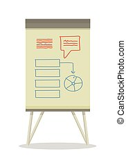 Whiteboard with Infographics. - Whiteboard with...