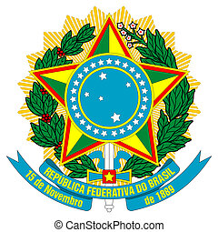 Brazil Coat of Arms - Brazil, coat of arms, seal or national...