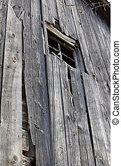 barnboard wall and window - silver gray barn wall and window