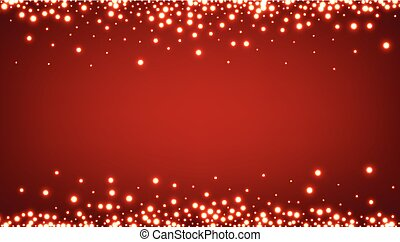 Abstract Christmas red luminous background. Vector...