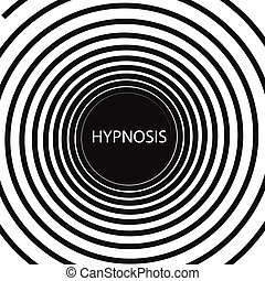 Hypnosis - The word Hypnosis inside a consuming hypnotic...