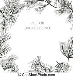 vector pine frame
