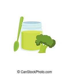 Fresh Broccoli Juice Supplemental Baby Food Products Allowed...