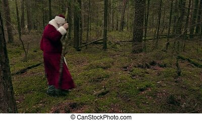 Santa Claus with back pain
