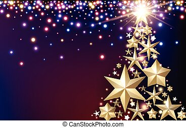 Purple background with Christmas tree.