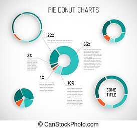 Colorful Vector pie chart templates