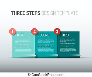One two three - vector paper progress steps / options