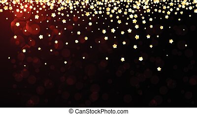 Red festive background with stars.