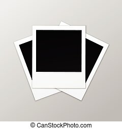 Blank Retro Photo Frames Isolated on Background - Vector...