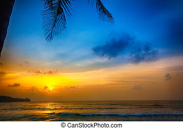 sunset on the beach in Thailand