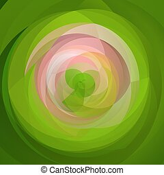 abstract modern art swirl background - spring green and pink colored