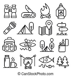 lines icons pack collection - vector set lines icons pack...