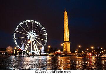Christmas in Paris, France. Place de la Concorde