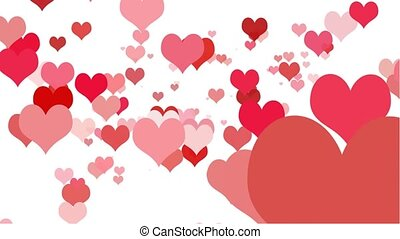 Heart Zoom Seamless Loop HD wide - Valentine hearts in...