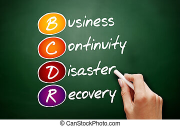 BCDR - Business Continuity Disaster Recovery - Hand drawn...