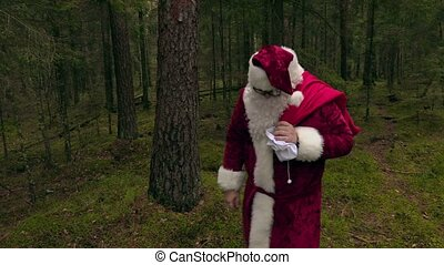 Santa Claus with bag without gifts