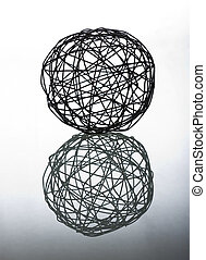 Abstract sphere isolated - Abstract dark wire sphere...
