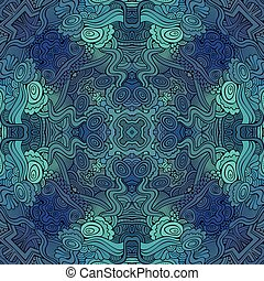 Abstract vector decorative ethnic floral seamless pattern -...