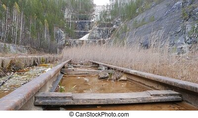 The rails of the water. Russia