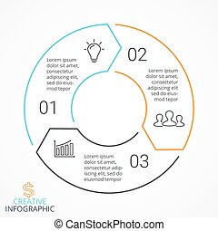 Vector circle arrows infographic, cycle diagram, linear...