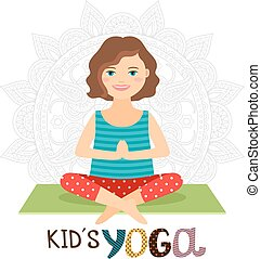 Young girl in yoga pose