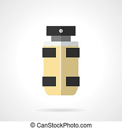Eau de toilette for men flat color vector icon - Bottle of...