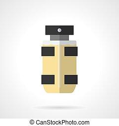 Eau de toilette for men flat color vector icon - Bottle of...